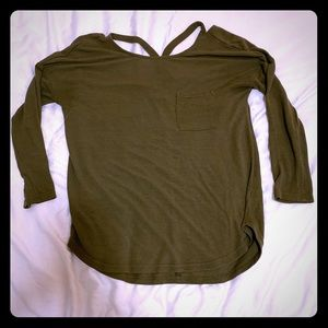 Cross back, light sweater - size S